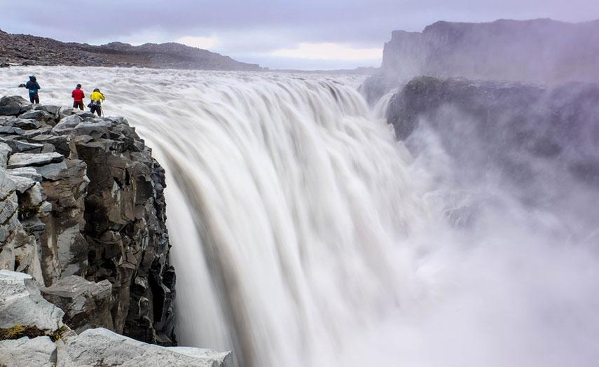 Island Norden Attraktion Wasserfall Dettifoss