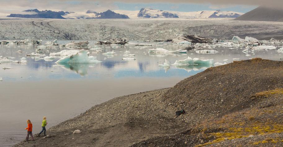 Island Kinder Gletscher Ferien