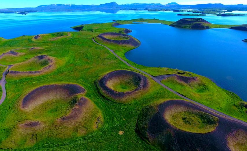 Myvatn Kraterseen in Island