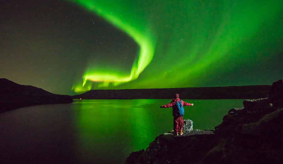 Island Aurora Borealis