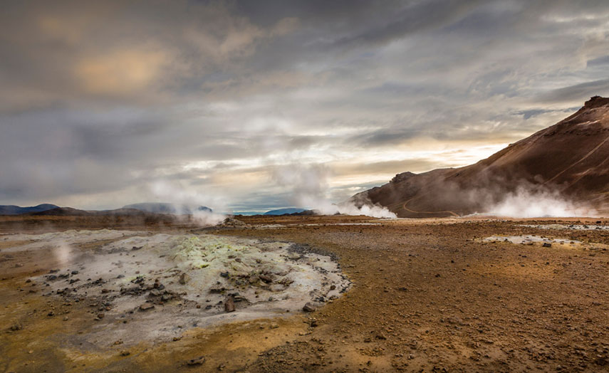 Námaskarð, heisse Quellen in Island