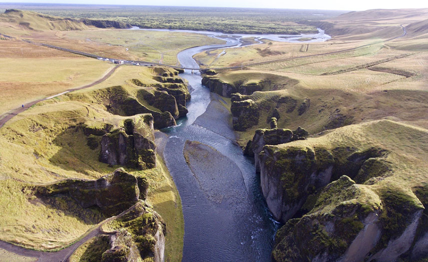 Fjaorargljufur Island Urlaub Schlucht