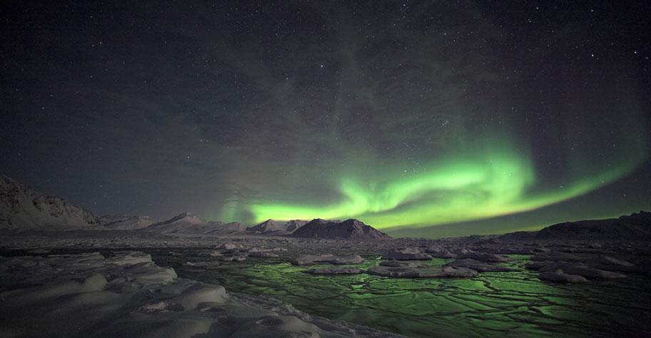 Lappland Familien Nordlichter sehen