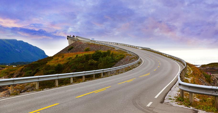 Skandinavien Mietwagen Strasse Landschaft Norwegen