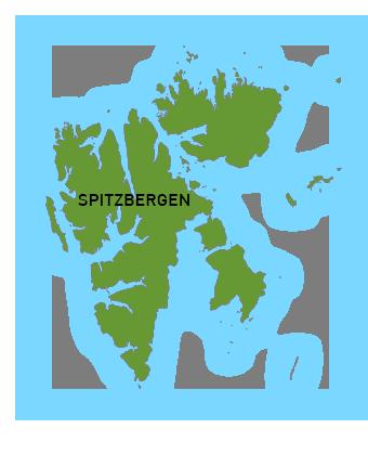 Spitzbergen Landkarte
