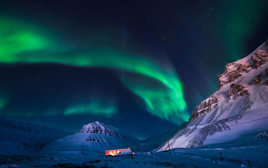 Spitzbergen Norwegen Winter